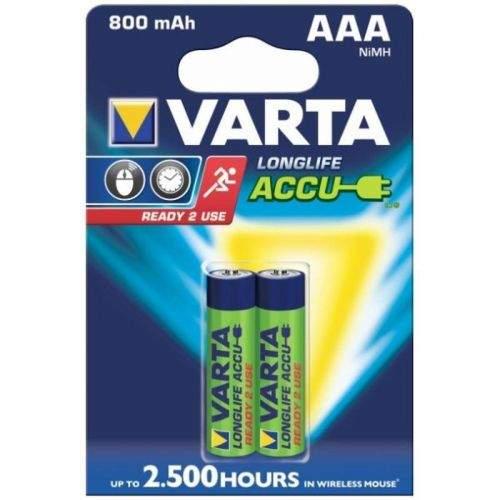 VARTA Longlife Accu, AAA tužkové NiMH 800mAh, 2 ks