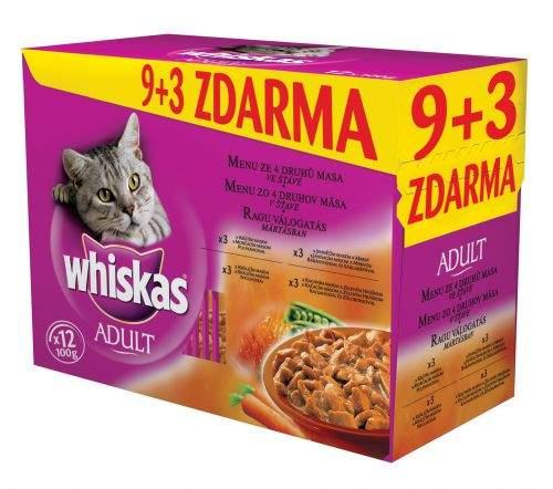 Whiskas Menu ze 4 druhů masa ve šťávě 12 x 100g