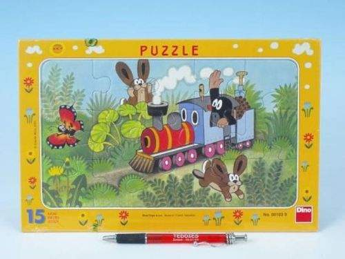 Krtek a lokomotiva - Puzzle 15 deskové