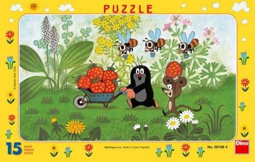 Krtek na výletě - Puzzle 15 deskové