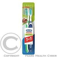 GILLETTE Oral-B zubní kartáček 3Effect Natural Fresh 1+1