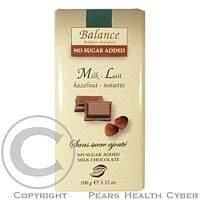 HEALTH LINK Balance mléčná čokoláda s lískovými ořechy bez cukru 100g
