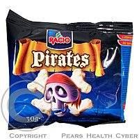 MILO BIELIK-RACIO RACIO Pirates Rýžové chlebíčky s bílou polevou jogurtová příchuť 30g
