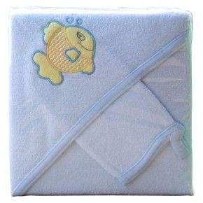 SCARLETT Froté ručník s kapucí - modrý!