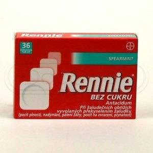 Rennie Spearmint bez cukru 36 tablet