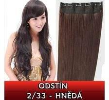 Clip in vlasy - 60 cm dlouhý pás vlasů - odstín 2/33 - hnědá SVĚTOVÉ ZBOŽÍ