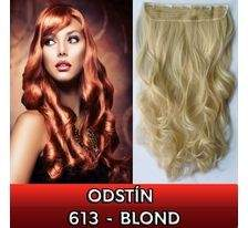 Clip in pás - lokny 55 cm - odstín 613 - blond SVĚTOVÉ ZBOŽÍ