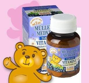 Müllerovi medvídci s vitamínem C 45 tablet
