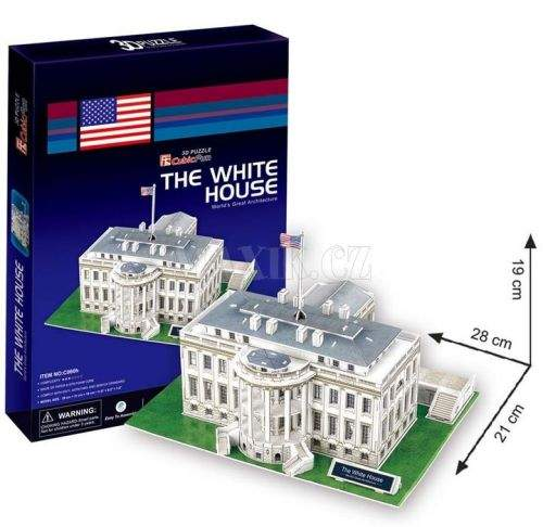 Puzzle 3D Bílý dům - 64 dílků