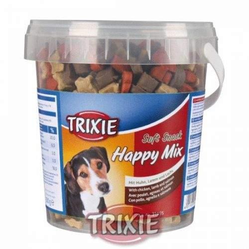 TRIXIE kuře, jehněčí, losos Soft Snack Happy 500 g