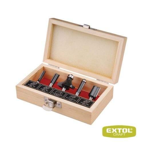EXTOL Frézy tvarové do dřeva s SK plátky 5 ks