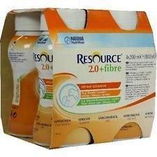 Resource 2 kcal Fibre Meruňkový roztok 4x200 ml