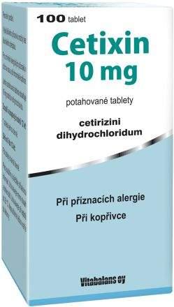 Cetixin 10 mg 100 tablet