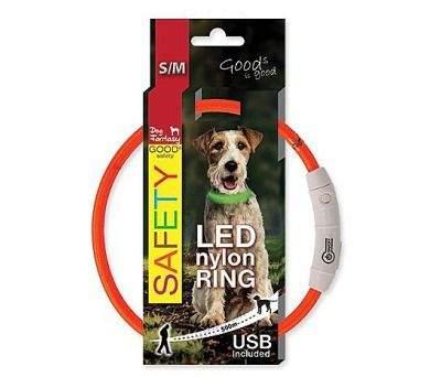 Dog Fantasy LED nylonový obojek