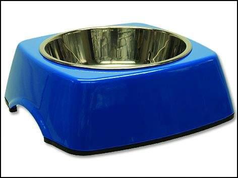 DOG FANTASY nerezová čtvercová miska 0,35 l