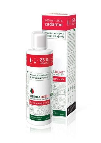 HERBADENT bylinná ústní voda koncentrát 250 ml