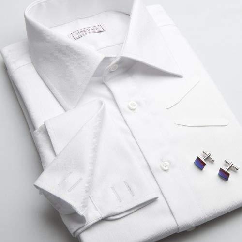 SmartMen Česká republika bílá košile na manžetové knoflíčky