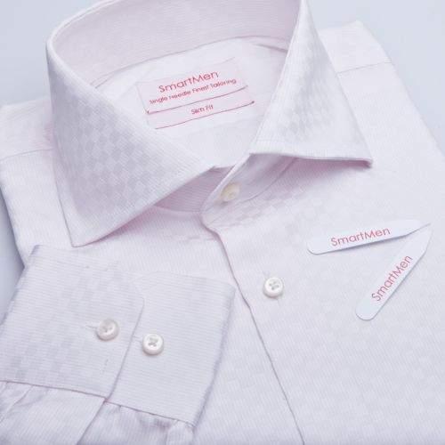 SmartMen Česká republika káro košile široký límeček