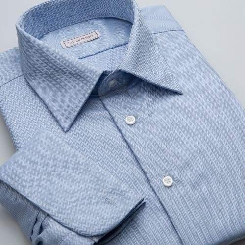 SmartMen Česká republika nebesky modrá košile na manžetové knoflíčky