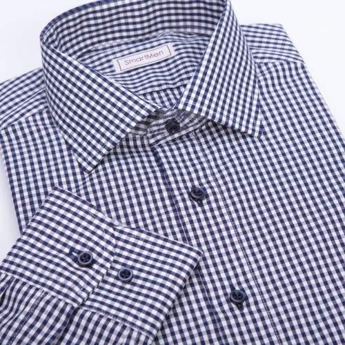 SmartMen Česká republika Charleston II modrá kostka košile