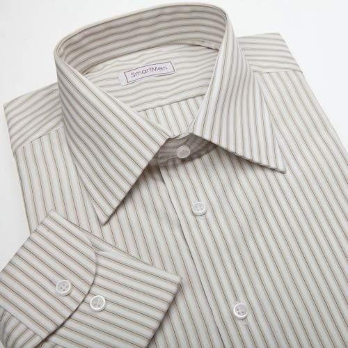 SmartMen Česká republika košile s proužky na bílém podkladu
