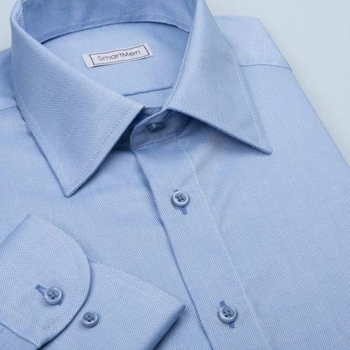 SmartMen Česká republika Světle modrá košile Royal Oxford Easy Care