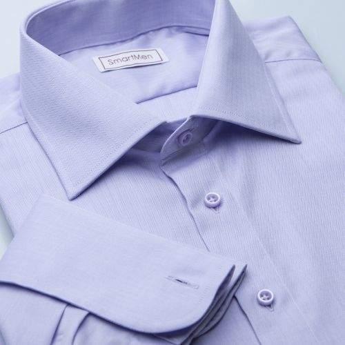 SmartMen Česká republika Herringbone fialová košile na manžetové knoflíčky