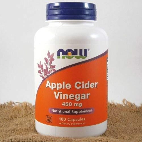NOW Foods Jablečný ocet 450 mg 180 kapslí