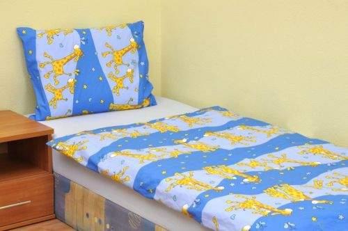 Brotex Žirafa modré bavlněné povlečení
