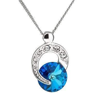 EVOLUTION GROUP 32048.5 bermuda blue náhrdelník dekorovaný krystaly Swarovski® (925/1000, 1,8 g)