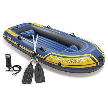 INTEX Člun pro 3 osoby + vesla a pumpa