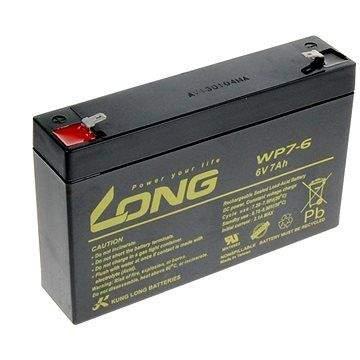 Long 6V 7Ah olověný akumulátor F1 (WP7-6)