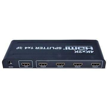 PremiumCord Externí HDMI Splitter, 4x port HDMI 1.4 černý