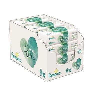 PAMPERS Aqua Pure vlhčené ubrousky 9× 48 ks