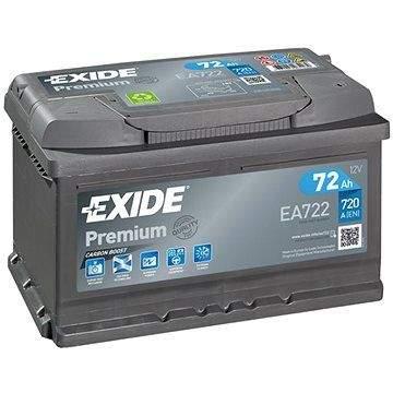 EXIDE Premium 72Ah, 12V, EA722