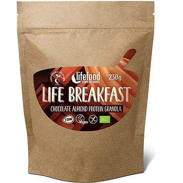 Lifefood Life Breakfast Bio Raw Granola čokoládová s mandlemi