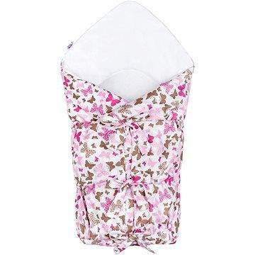 New Baby Klasická šněrovací zavinovačka - růžoví motýli