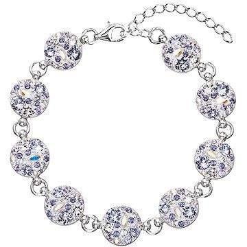 EVOLUTION GROUP 33048.3 violet náramek dekorovaný krystaly Swarovski (925/1000, 7 g)