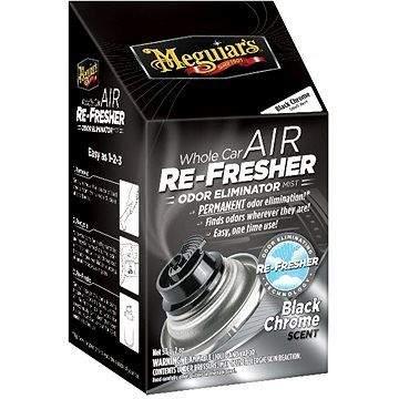 Meguiar's Air Re-Fresher Čistič klimatizace - Pohlčovač pachů a osvěžovač vůně - Black Chrome Scent