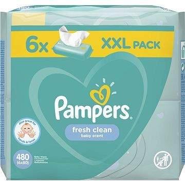 PAMPERS Fresh Clean XXL 6× 80 ks