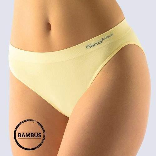 Gina Kalhotky Bamboo klasické sv.žlutá L/XL