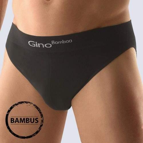 GINO Slipy Bamboo nízké Black černá L/XL