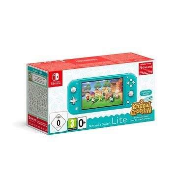 Nintendo Switch Lite - Turquoise + Animal Crossing + 3M NSO