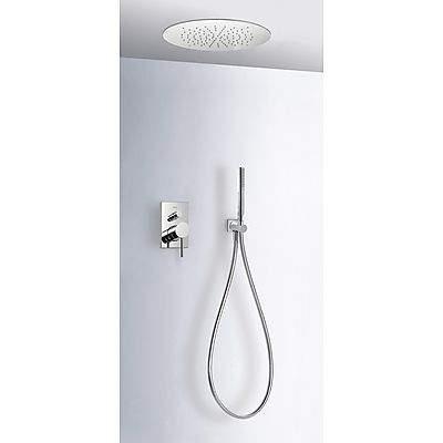 TRES Podomítkový jednopákový sprchový set MAXs uzávěrem a regulací průtoku. Včetně podomítkového tělesa Sprchové kropítk 06218009
