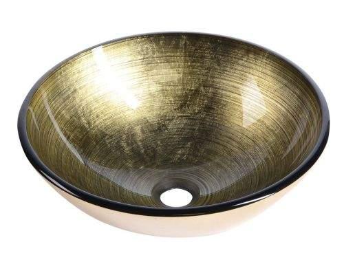 SAPHO FIANNA skleněné umyvadlo průměr 42 cm, bronz 2501-21