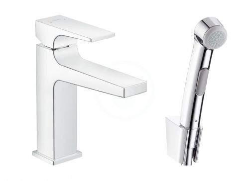 HANSGROHE Metropol Páková umyvadlová baterie s ruční sprchou Bidette, chrom 32522000