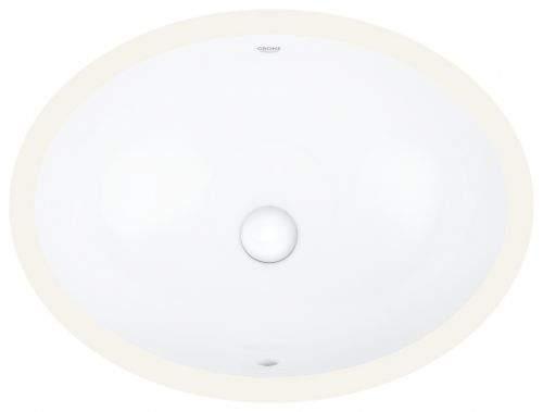 GROHE Bau Ceramic Umyvadlo s přepadem, 560 × 420 mm, alpská bílá 39423000
