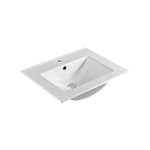 MEREO Nábytkové umyvadlo SLIM, 61x46x18 cm, keramické, bílé UC6146
