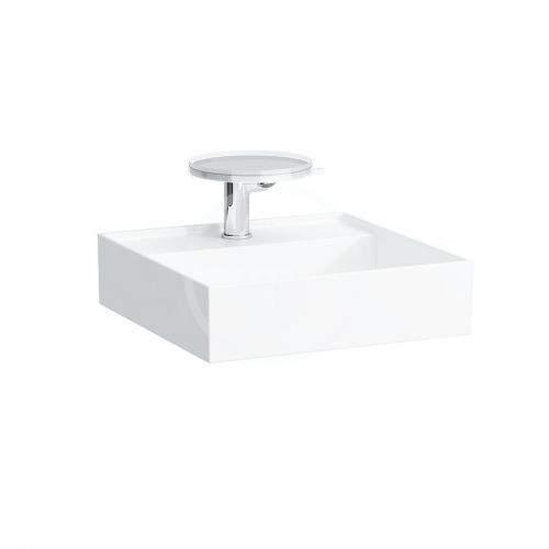 Laufen Kartell Umývátko na desku 460x460 mm, s 1 otvorem pro baterii, s LCC, bílá H8153314001111
