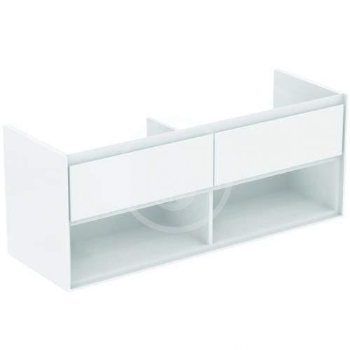 IDEAL STANDARD Connect Air Skříňka pod dvojumyvadlo, 1300x440x517 mm, lesklá bílá/světlá šedá mat E0831KN